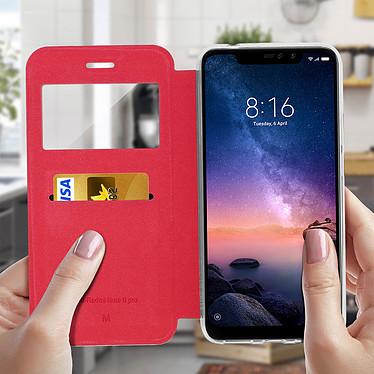 Acheter Avizar Etui folio Rouge Éco-cuir pour Xiaomi Redmi Note 6 Pro