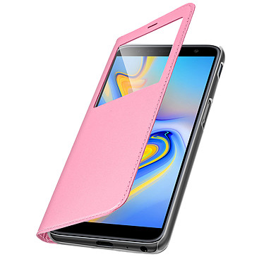 Avizar Etui folio Rose pour Samsung Galaxy J6 Plus pas cher