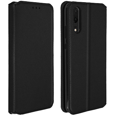 Avizar Etui folio Noir Éco-cuir pour Huawei P20 pas cher