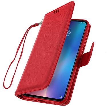 Avizar Etui folio Rouge Éco-cuir pour Xiaomi Mi 9 pas cher
