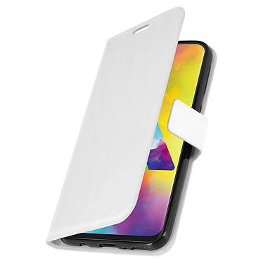 Avizar Etui folio Blanc pour Samsung Galaxy M20 pas cher