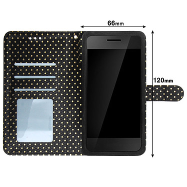 Acheter Avizar Etui folio Noir pour Smartphones de 3.8' à 4.3'
