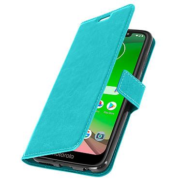 Avizar Etui folio Turquoise pour Motorola Moto G7 , Motorola Moto G7 Plus pas cher