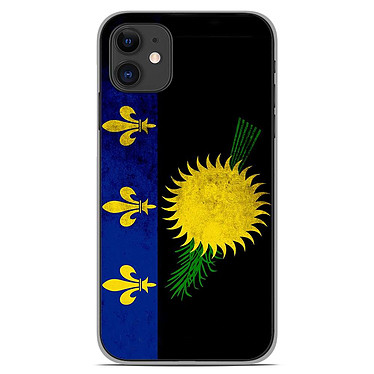 1001 Coques Coque silicone gel Apple iPhone 11 motif Drapeau Guadeloupe Coque silicone gel Apple iPhone 11 motif Drapeau Guadeloupe