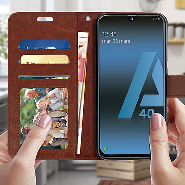 Acheter Avizar Etui folio Marron pour Samsung Galaxy A40