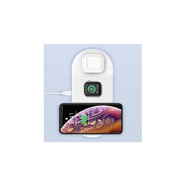 Avis Baseus Chargeur Sans Fil 3 en 1 pour iPhone, Watch et Airpods  Blanc