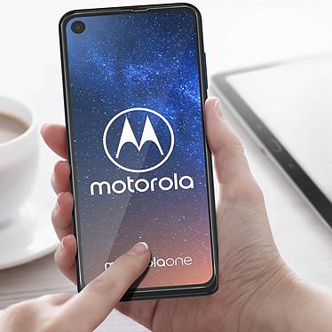 Acheter Avizar Film verre trempé Noir pour Motorola One Vision, Motorola One Action
