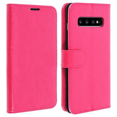 Avizar Etui folio Rose Éco-cuir pour Samsung Galaxy S10 Etui folio Rose éco-cuir Samsung Galaxy S10