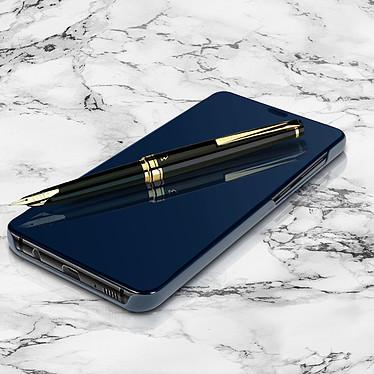 Avizar Etui folio Bleu pour Samsung Galaxy A9 2018 pas cher