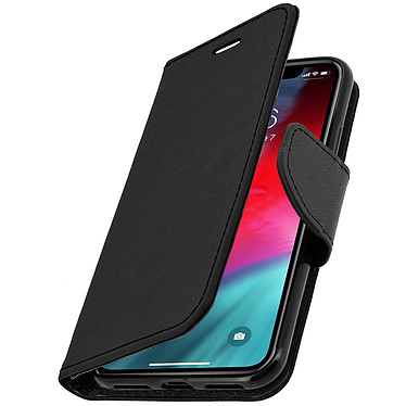 Avizar Etui folio Noir Support Horizontal pour Apple iPhone XS Max pas cher