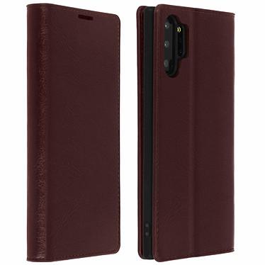 Avizar Etui folio Marron pour Samsung Galaxy Note 10 Plus Etui folio Marron Samsung Galaxy Note 10 Plus