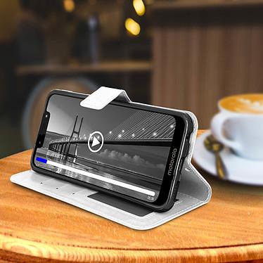 Avis Avizar Etui folio Blanc pour Motorola Moto G7 , Motorola Moto G7 Plus