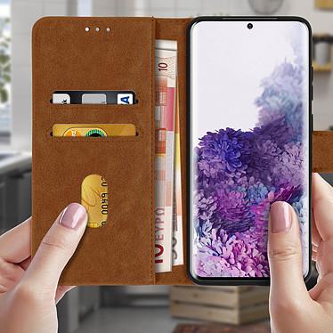 Acheter Avizar Etui folio Marron pour Samsung Galaxy S20
