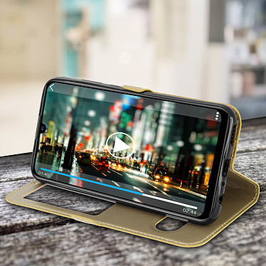 Acheter Avizar Etui folio Dorée à fenêtre pour Huawei P Smart 2019 , Honor 10 Lite