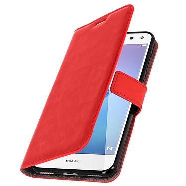 Avizar Etui folio Rouge pour Huawei Y6 2017 Etui folio Rouge Huawei Y6 2017