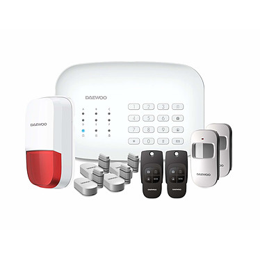 DAEWOO Home Pack alarme Wifi/GSM avec 12 accessoires