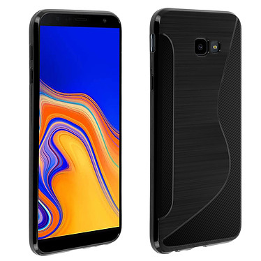 Avizar Coque Noir S-Line pour Samsung Galaxy J4 Plus Coque Noir S-Line Samsung Galaxy J4 Plus