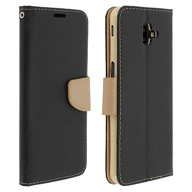 Avizar Etui folio Noir Fancy Style pour Samsung Galaxy J6 Plus Etui folio Noir Fancy Style Samsung Galaxy J6 Plus