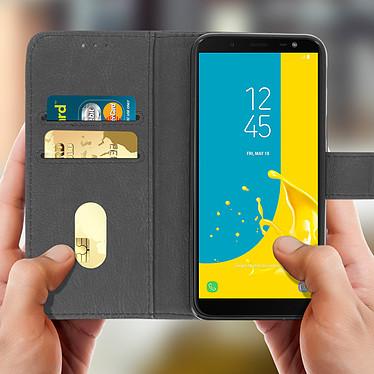 Acheter Avizar Etui folio Gris pour Samsung Galaxy J6