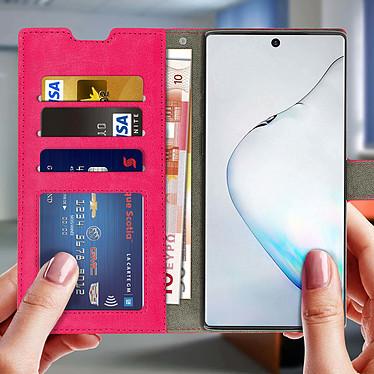 Acheter Avizar Etui folio Rose Portefeuille pour Samsung Galaxy Note 10 Plus