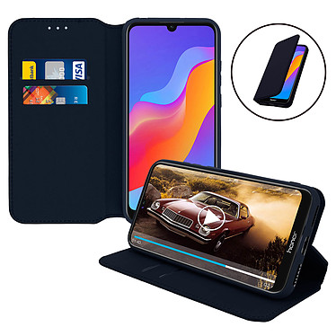 Avizar Etui folio Bleu Nuit pour Honor 8A , Huawei Y6 2019 , Huawei Y6S , Honor 8A 2020 pas cher