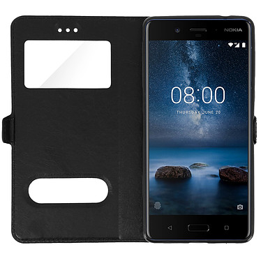 Acheter Avizar Etui folio Noir pour Nokia 8