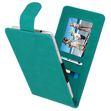 Avizar Etui à clapet Vert pour Compatibles avec Smartphones de 5,5 à 6,0 pouces pas cher