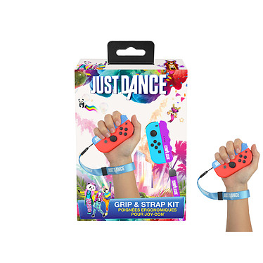 Just Dance Grip & Strap pack officiel Poignée ergonomique ave dragonnes pour Joy Con