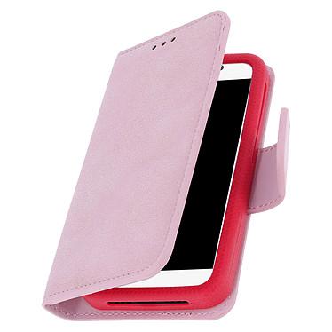 Avizar Etui folio Rose pour Tous les smartphones jusqu'à 6 pouces pas cher