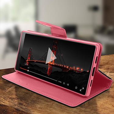 Avis Avizar Etui folio Rose Fancy Style pour Sony Xperia 10 Plus