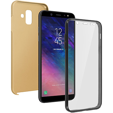 Avizar Coque Dorée pour Samsung Galaxy A6 Coque Dorée Samsung Galaxy A6
