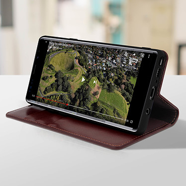 Avis Avizar Etui folio Marron pour Samsung Galaxy Note 9