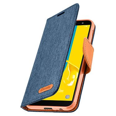 Avizar Etui folio Bleu Nuit Porte-Carte pour Samsung Galaxy J6 pas cher