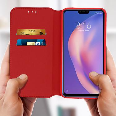 Avis Avizar Etui folio Rouge Éco-cuir pour Xiaomi Mi 8 Lite