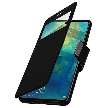 Avizar Etui folio Noir à fenêtre pour Huawei Mate 20 pas cher