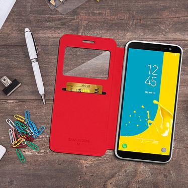Acheter Avizar Etui folio Rouge à fenêtre pour Samsung Galaxy J6