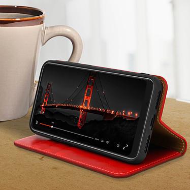 Avis Avizar Etui folio Rouge Cuir Véritable pour Xiaomi Mi A2 Lite