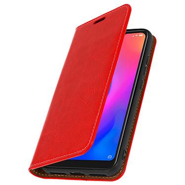 Avizar Etui folio Rouge Cuir Véritable pour Xiaomi Mi A2 Lite pas cher