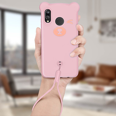 Acheter Avizar Coque Rose Design Nounours pour Huawei P20 Lite