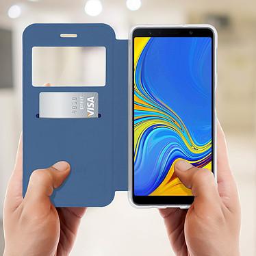 Acheter Avizar Etui folio Bleu Éco-cuir pour Samsung Galaxy A7 2018