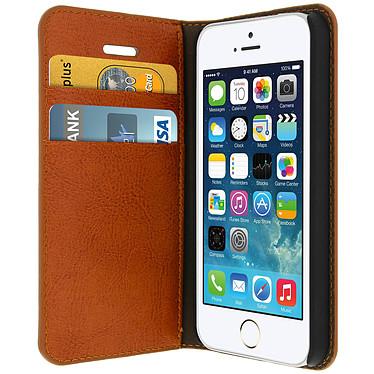 Avizar Etui folio Marron pour Apple iPhone 5 , Apple iPhone 5S , Apple iPhone SE Etui folio Marron Apple iPhone 5 , Apple iPhone 5S , Apple iPhone SE