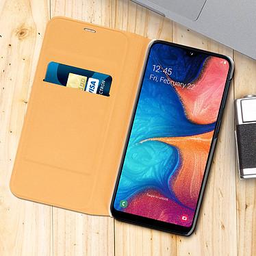 Acheter Avizar Etui folio Dorée Porte-Carte pour Samsung Galaxy A20e