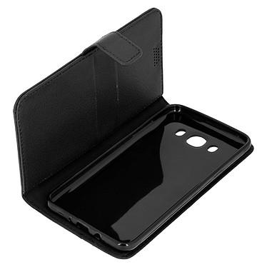 Avizar Etui folio Noir pour Samsung Galaxy J7 2016 Etui folio Noir Samsung Galaxy J7 2016
