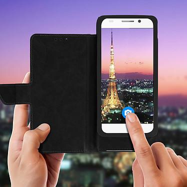 Avis Avizar Etui folio Noir pour Compatibles avec Smartphones de 5,5 à 6,0 pouces