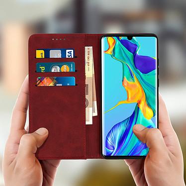 Acheter Avizar Etui folio Rouge Portefeuille pour Huawei P30 Pro