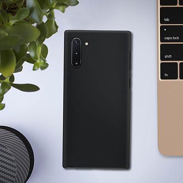 Avizar Coque Noir Souple pour Samsung Galaxy Note 10 pas cher