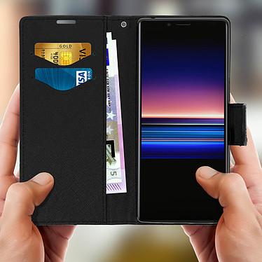 Acheter Avizar Etui folio Noir Fancy Style pour Sony Xperia 1