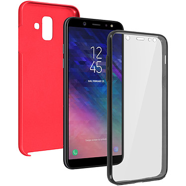 Avizar Coque Rouge pour Samsung Galaxy A6 Coque Rouge Samsung Galaxy A6