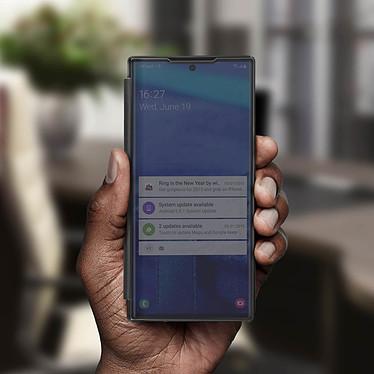 Avis Avizar Etui folio Noir Design Miroir pour Samsung Galaxy Note 10