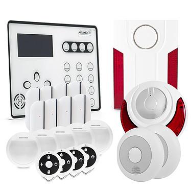 Atlantic'S ATEOS - Alarme de maison sans fil GSM Kit 9 ATEOS - Alarme de maison sans fil GSM Kit 9